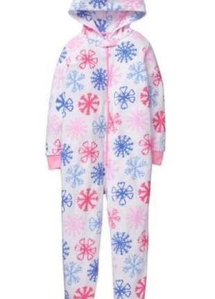 Теплая флисовая пижама для девочки, кигуруми, ромпер, оригинал gymboree xs 4 года, рост
