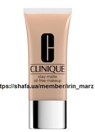 Матирующий тональный крем clinique stay matte oil free makeup №02 alabaster тестер новый