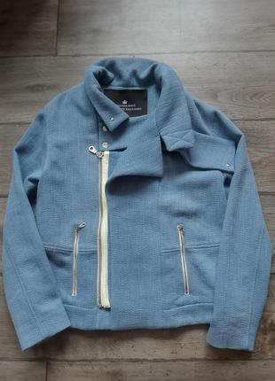 Дания. дизайнерская супер стильная куртка косуха бомбер charlotte eskildsen. оригинал