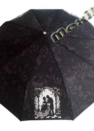 Модный зонт zest полуавтомат 10 спиц. расцветка тёмный пушкин