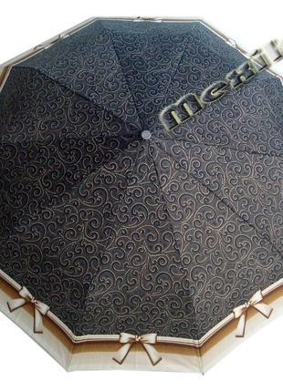 Модный зонт zest полуавтомат 10 спиц. расцветка бантик