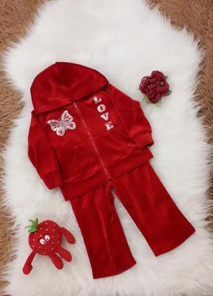 Спортивний костюм, велюровий для дівчинки.