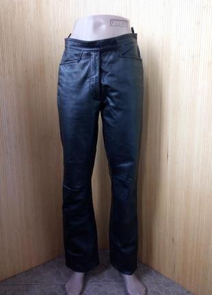 Кожаные чёрнве брюки s/m