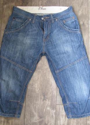 Шорты мужские джинсовые w31 м-l наш 48- 50 oliver