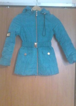 Пальто куртка деми весна осень 116-122 рост