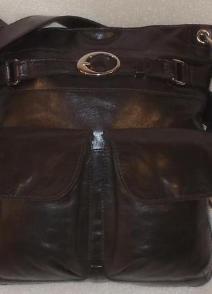 Мужская сумка *fb* номерная натуральная кожа