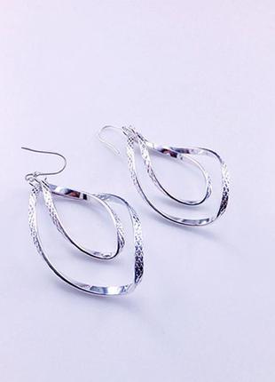 Серьги спиральки или мебиус спиральные серьги бижутерия купить недорого