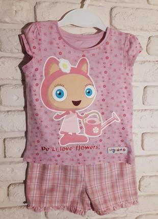Розовая футболка tu