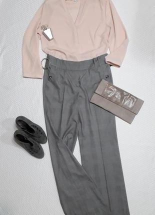 Классические брюки офис в клетку для высоких девушек 38 m 461 ... 84414ab699327