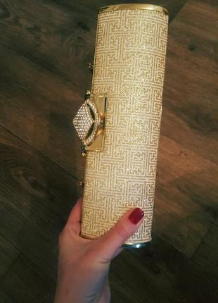Блестящий золотой клатч-сумочка asos