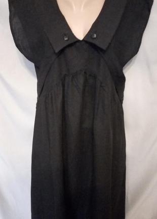 Черное легкое х/б платье, сарафан, можно для беременных