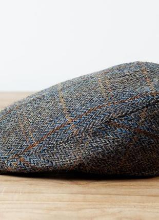Брендовая твидовая кепка harris tweed  шотландия оригинал унисекс