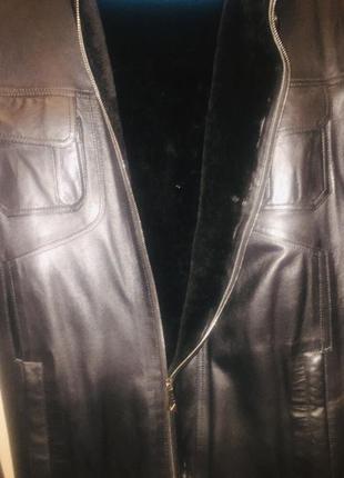 Кожаная курточка (дубленка, зимняя)