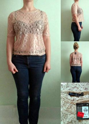 Нюдовая блуза 12
