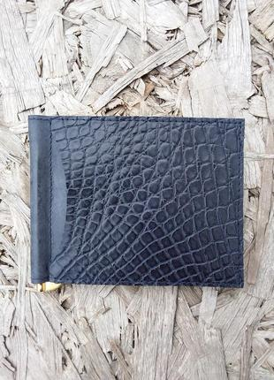 Натуральная кожа крокодила 100%. кошелек,  портмоне, зажим для денег
