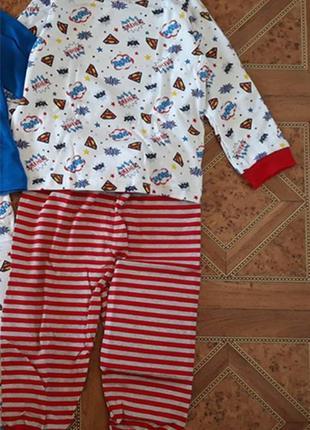 Пижама мальчику george 18-24 мес 1,5-2 года рост 86-92