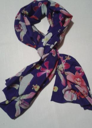 Шаль шарф с орхидеями + 180 шарфов и платков на странице