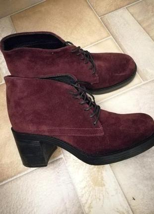 Демисезонные ботинки с натуральной замши