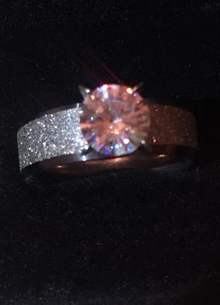 Кольцо с камнем рр 17