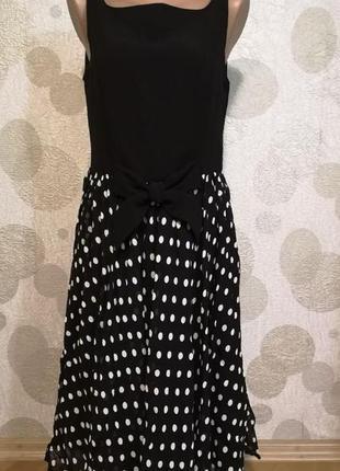 Обалденное платье  горохи ретро  любимого бренда