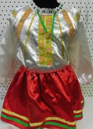 Украинский костюм на девочку р. 104-116