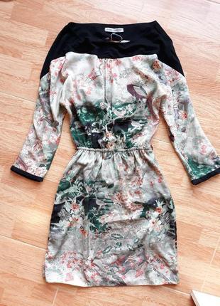 Платье в японской тематике от bershka, xs-s