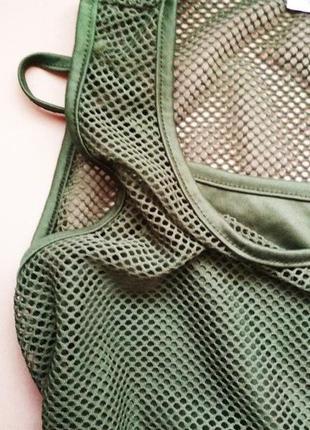 Платье-майка с сеткой с подкладкой
