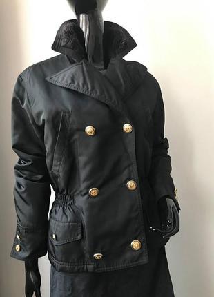 Утепленная куртка жакет тренч винтаж versus gianni versace italy оригинал