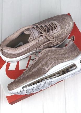 Супер блестящие кроссовки!!! распродажа air max 97 swarovski gold
