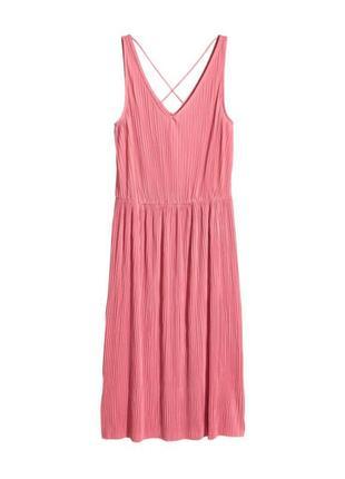 Платье миди плиссе,платье плиссировка
