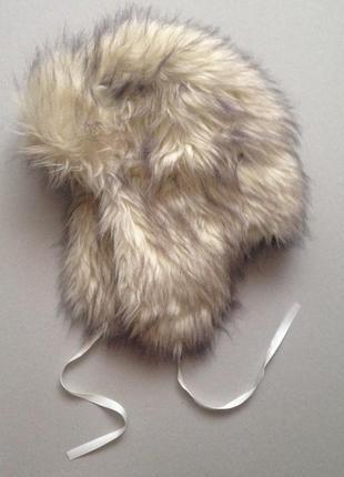 Меховая новая шапка ушанка для веганов из искусственного меха от stradivarius zara