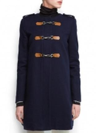 Женские пальто синие Mango 2019 - купить недорого вещи в интернет ... 94a47e388d837