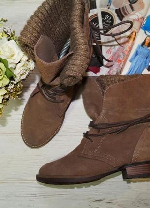 Noiz. замша. стильные ботинки на низком ходу