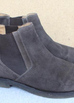 Ботинки челси geox замша италия 44р