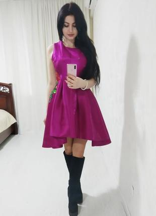 Шикарное брендовое нарядное платье с вышивкой от behcetti италия 💝 распродажа 💝