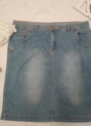 Юбка джинсовая выбеленная