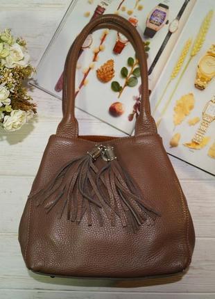Кожа. стильная сумка с кошельком, прекрасного качества