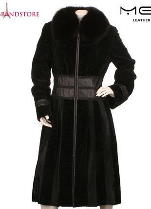 7a2c82debe60eb Mefi кожаное пальто с мехом длинное женское натуральная меховая дубленка  зимняя шуба тренч
