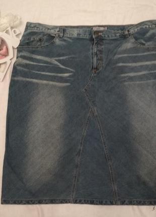 Юбка джинсовая большой размер
