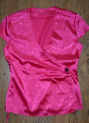 Яркая шелковая блузка 158-164р распродажа