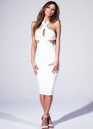 Платье с кожаными вставками missguide&nicole s-m