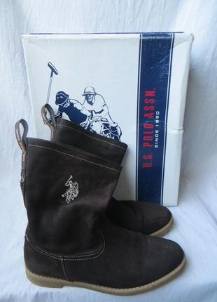 Крутейшие ботинки замшевые u.s. polo assn р 40,26,5 см