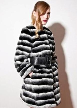 Потрясающая теплая шуба пальто кардиган artfur шиншилла черная размер с м л