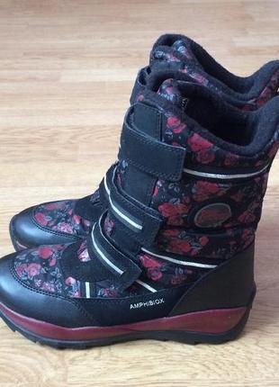 Зимние термо ботинки geox 36 размера в идеальном состоянии
