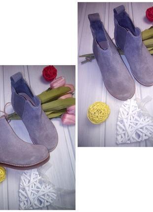 Натуральные замшевые сапоги челси, ботинки, h&m3