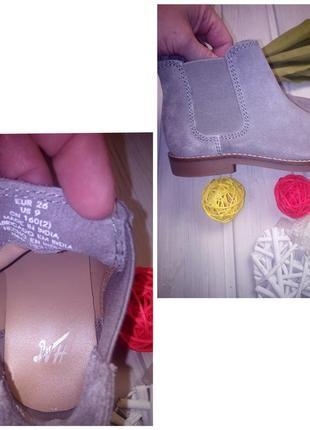 Натуральные замшевые сапоги челси, ботинки, h&m5