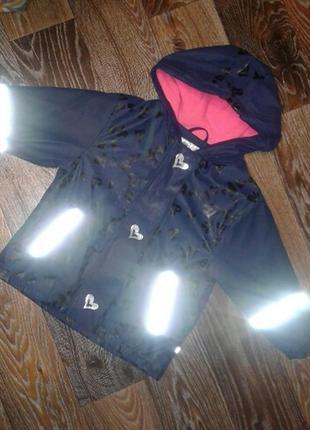 Sale! 30. курточка дождевик на флисе lupilu с сердечками и светоотражателями