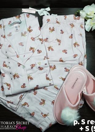 Пижама и тапочки розовая s victoria's secret2