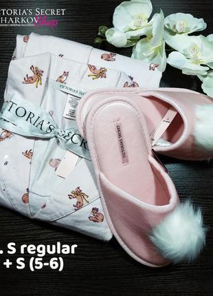 Пижама и тапочки розовая s victoria's secret4
