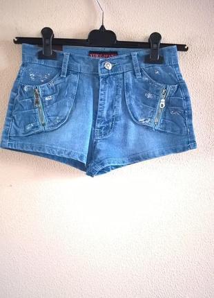 Шортики джинсовые на лето на девочек новые 6-15 лет